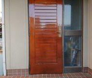 中央区 玄関ドア 木部塗装 クリヤサムネイル
