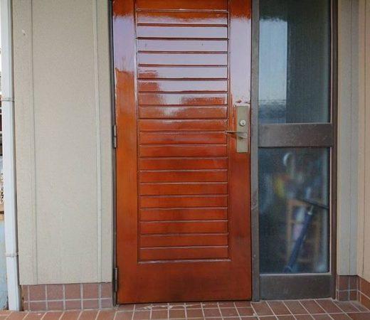 玄関ドア 部分塗装