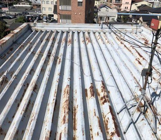 折半屋根 屋根塗装
