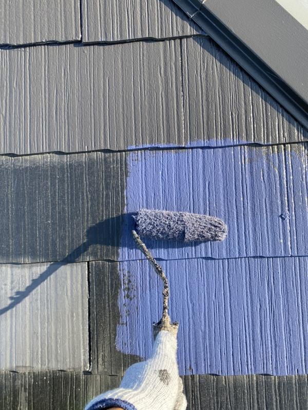 東区  コロニアル 屋根 中塗り 遮熱塗料サムネイル