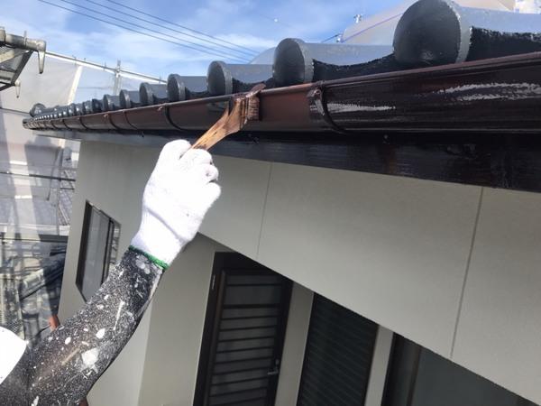 合志市 須屋 雨樋塗装 フッソ塗料サムネイル