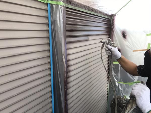 合志市 須屋 雨戸・戸袋吹付塗装 フッソ塗料サムネイル