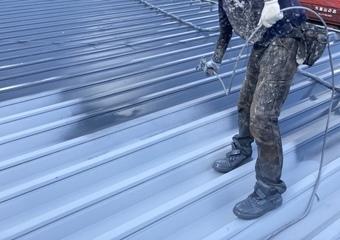菊陽町 店舗 屋根 上塗り シリコンサムネイル