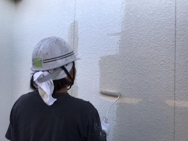 東区 外壁 中塗り シリコンサムネイル