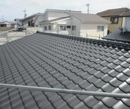 中央区 屋根 セメント瓦 遮熱塗装サムネイル