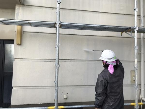 北区ビル モルタル外壁 高圧洗浄サムネイル