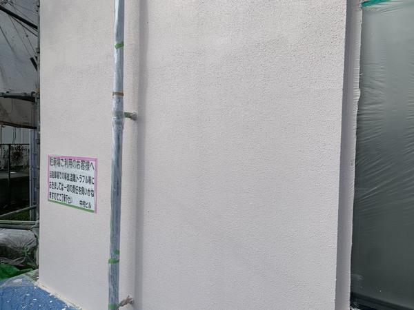 北区ビル 外壁 上塗りサムネイル