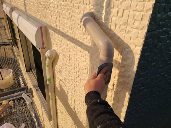南区住宅 雨樋塗装サムネイル