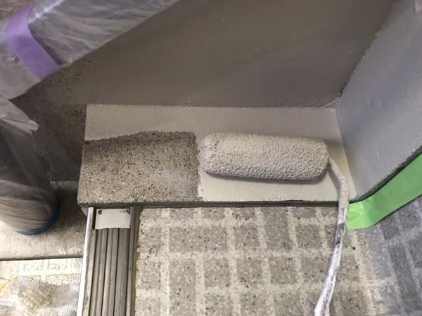 ビル内部階段 巾木塗装サムネイル