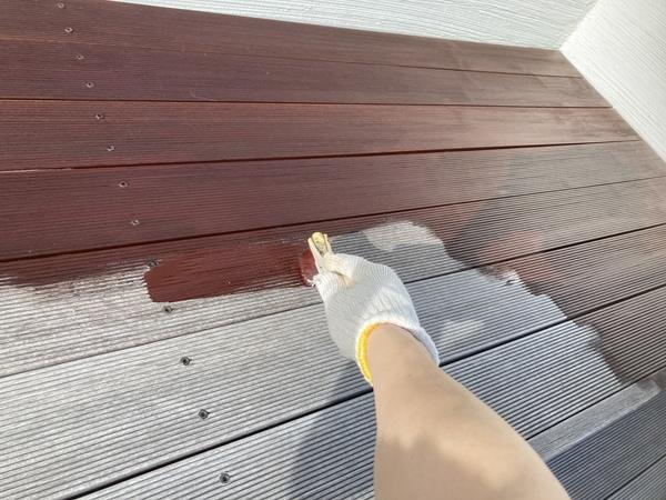 ウッドデッキ 木部塗装 自然塗料サムネイル