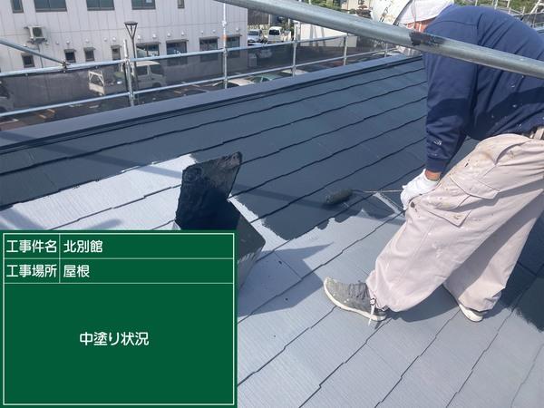 東区法人様 コロニアル屋根 中塗りサムネイル