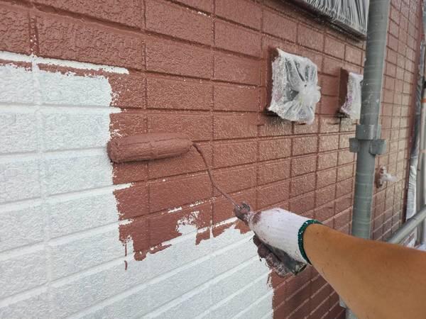 南区住宅 外壁中塗り フッソサムネイル