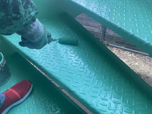 西区マンション 鉄骨階段 サムネイル