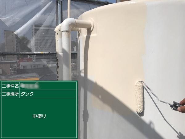 新町マンション 貯水タンク塗装サムネイル