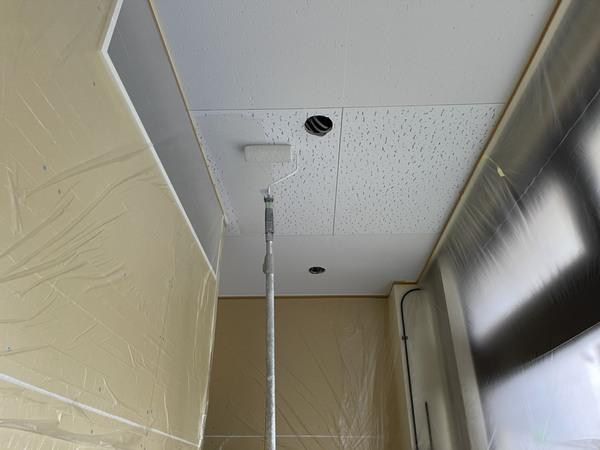 東区店舗 内部天井塗装サムネイル