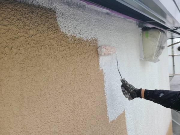 中央区住宅 外壁下塗りサムネイル