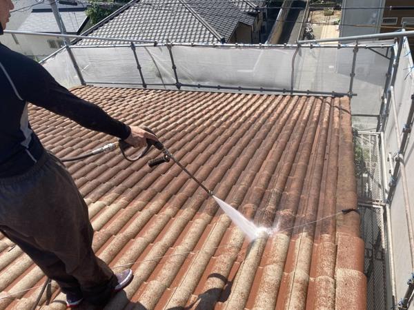 西区住宅 モニエル瓦 高圧洗浄サムネイル