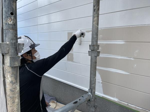 東区店舗 外壁サイディング下塗りサムネイル