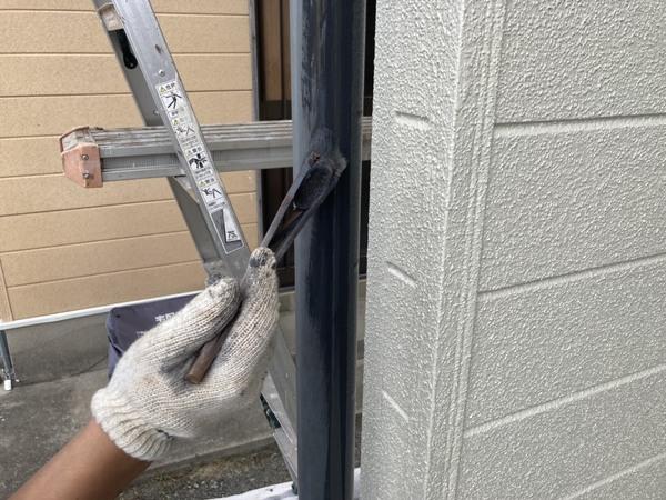 玉名市 雨樋塗装 シリコンサムネイル