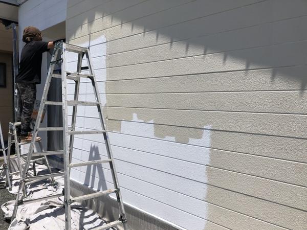 玉名市 外壁 中塗りサムネイル